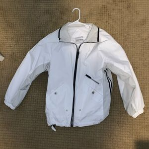 Medium Basic Editions White Windbreaker